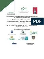 Esquema General Programación XVII Encuentro de Cementerios Patrimoniales