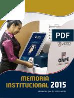 Memoria Anual 2015 - Oficina Nacional de Procesos Electorales ONPE