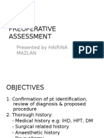 Preoperative Assessment Hairina Mazlan