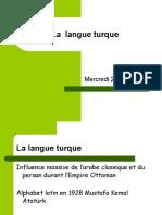 Presentation de La Langue Turque