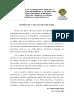Articulo Arbitrado - Modelos de Planificacion Curricular
