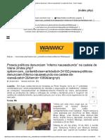 """Presos Políticos Denunciam """"Inferno Nauseabundo"""" Na Cadeia de Viana - Club-K Angola"""