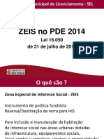 ZEIS no PDE 2014 - Prefeitura São Paulo