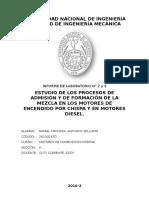 Estudio de los procesos de admisión y de formación de la mezcla en los motores de encendido por chispa y diesel.