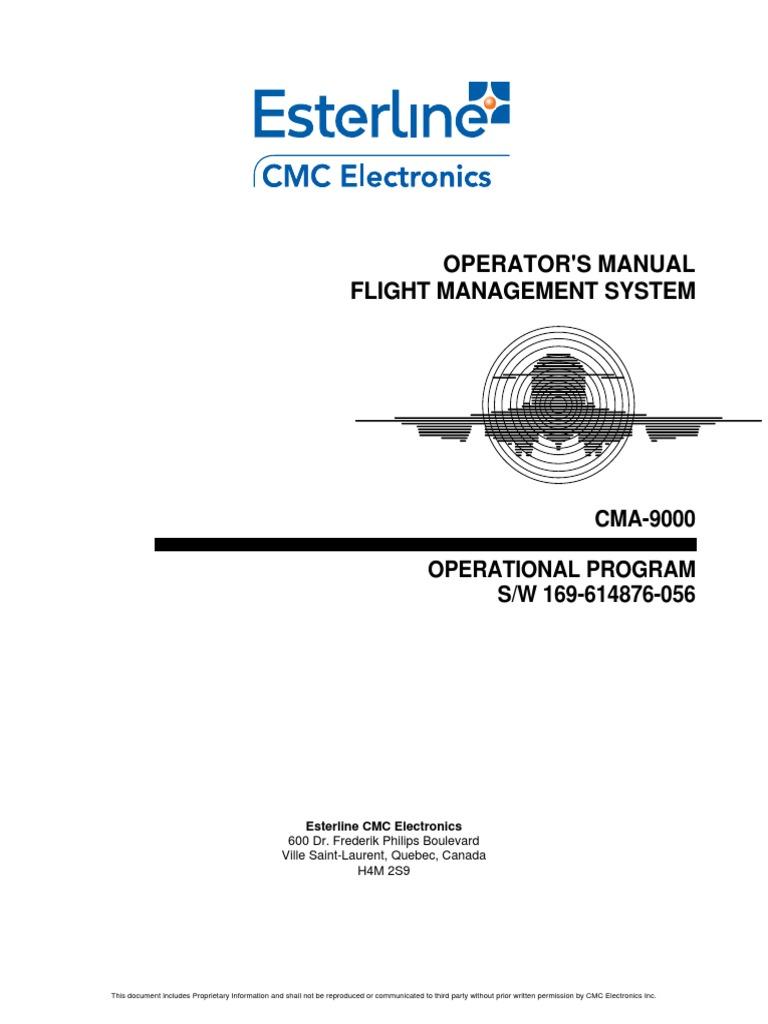 cma 9000 pdf global positioning system navigation rh scribd com Operators Manual Flight Dispatch Manual