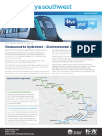 Sydney Metro City Southwest Chatswood to Sydenham EIS Newsletter