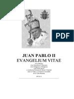 Carta Encíclica Evangelium Vitae (Juan Pablo II)