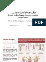 Sesion 26-28 Cont.embriologia. AP. Cardio