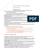Chapter 3 Federalism Division of Power National, State, And Local Governments
