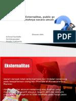 Externalitas, Public Goods Dan Contohnya Secara Umum