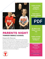 mock parent night handout
