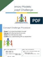 Concept Challenge Memory Models 1