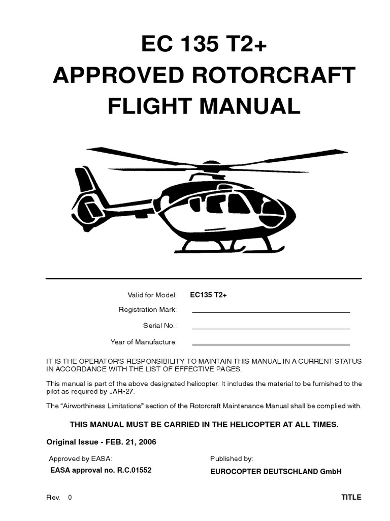 ec135 t2 basis flm gallon helicopter rotor rh scribd com Business Operations Manual User Manual Template