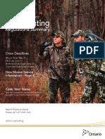 2016 Ontario Hunting Regulations English