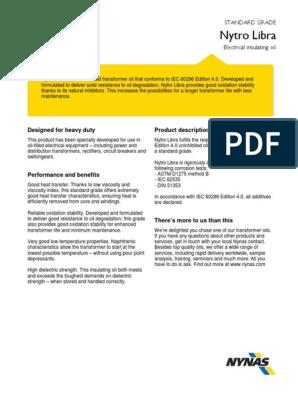 PDS Nynas Nytro Libra | Transformer | Chemistry