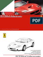 Ferrari 575 Owner Maintenance Manual