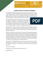 COMUNICADO Voluntad Popular Sobre Dialogo