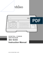 Datavideo SE 500 Manual