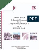 Informe de Trabajo de Mecanizado en Sitio y Colocación de Bocina - Refractary PC C.a.