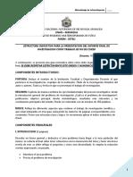 Estructura Indicativa Para La Presentación Del Informe Final de Investigación 2014