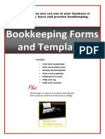 Bookkeeping Forms and Templates Book