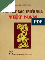 Thế Thứ Các Triều Vua Việt Nam - Nguyễn Khắc Thuần