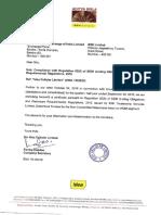 Certificate from Debenture Trustee [Company Update]