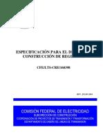 5.147 Cfe-lts-cre-160398 Esp. Para Diseño de Registros