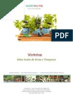 Mini-horta de Ervas e Temperos