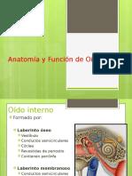 Anatomía y Función de Oído Interno