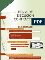 Etapa de Ejecución Contractual