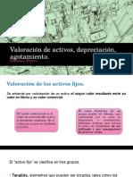 Valoración de Activos, Depreciación, Agotamiento