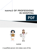 Names of Professions in Hospital