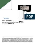 Ghid Rapid de Utilizare Pentru Centrale Teletek Din Seria CA62 Cu Tastaturi LCD64