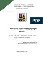 Tesis Nul D° Púb . U. de Valdivia