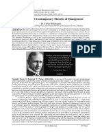 Historical and Contemporary Theories of Management