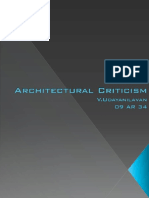 Architectural Criticism - Udayanilavan