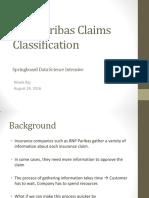 bnp paribas claims classification presentation