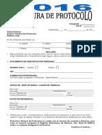 Apertura de Protocolo 2016