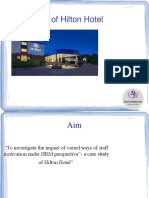 Case Study of Hilton Hotel