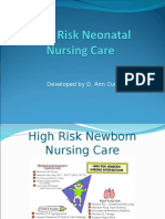 High Risk Neonatal Nursing Care