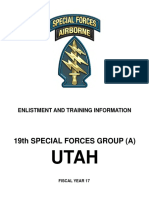 SF Enlistment and Training Information