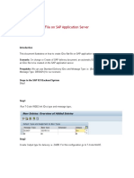Creating an IDoc File on SAP Application Server