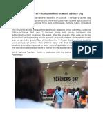 26. Teachers' Day