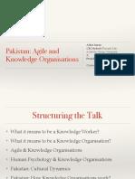 Agile and Knowledge Organization by Ather Imran Nawaz