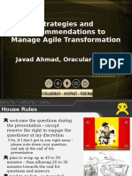 Strategies and Recommendations to Manage Agile Trasnformation by Javad Ahmad