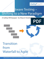 Agile Software Testing Shifting to a New Paradigm