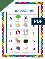 Vocal Es Poster Spanish Vowels Poster