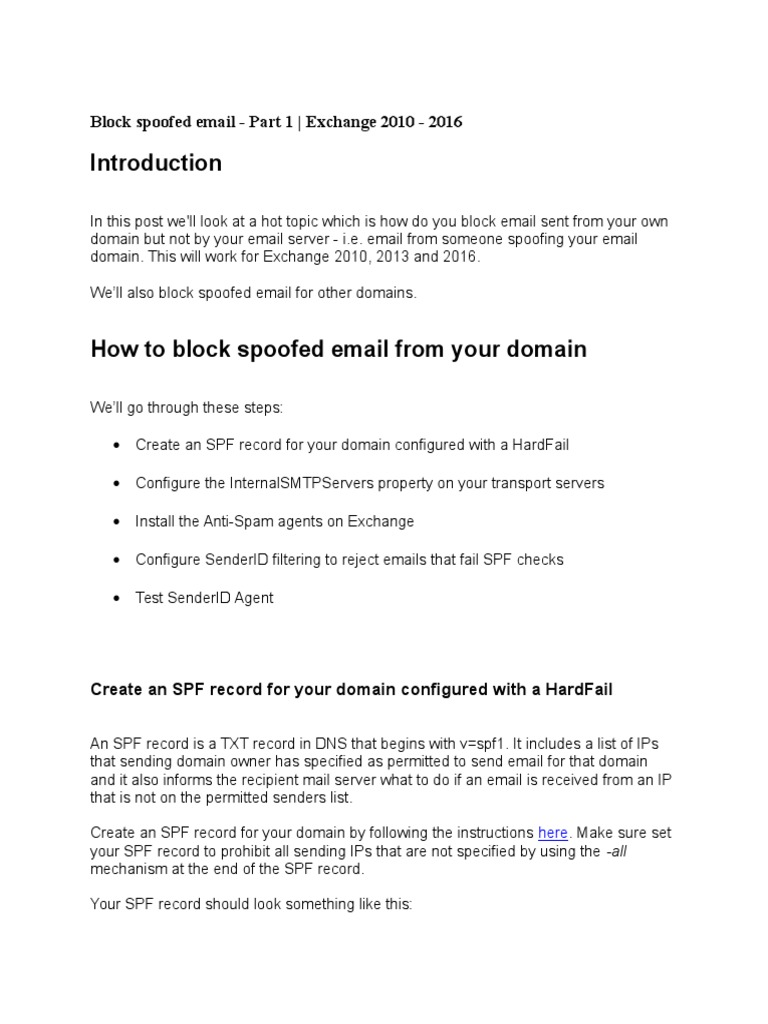 Exchange 2013 Anti Spam and More | Email | Email Spam