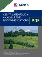 Kenya Land Policy Analysis
